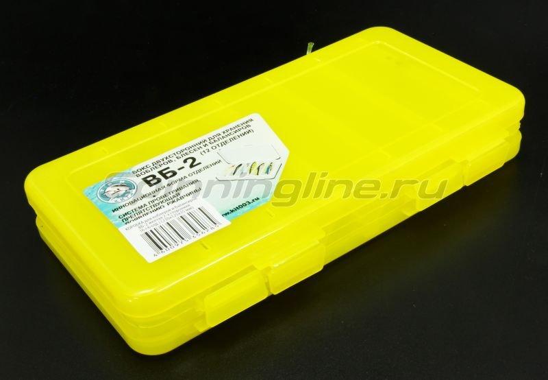 Коробка Три Кита для воблеров и балансиров ВБ-2 желтая -  1