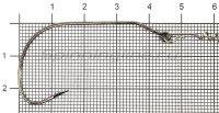 Крючок Gurza Swim Bait Hook BN №1/0
