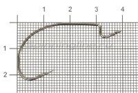 Крючок Suna B-94 BC №2/0