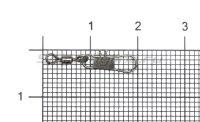 Вертлюг с карабином Akkoi Snap ZV01 №10
