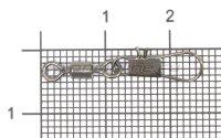 Вертлюг с карабином Akkoi Snap ZV01 №6