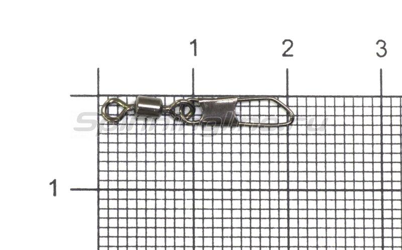 Вертлюг с карабином Akkoi Snap ZV02 №8 -  1