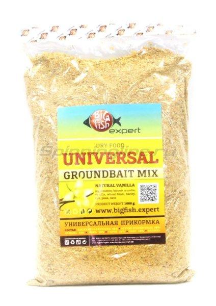 Прикормка летняя Big Fish Expert Groundbait Universal 1кг -  1