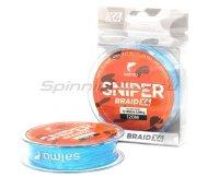 Шнур Sniper Braid Blue 120м 0,165мм