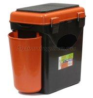 Ящик Helios рыболовный зимний FishBox односекционный оранжевый 10л