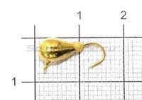 Мормышка Капля с фосфорным наплывом и ушком d5 431-030 золото