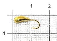 Мормышка Фасолинка с отверстием d4.5 002 золото