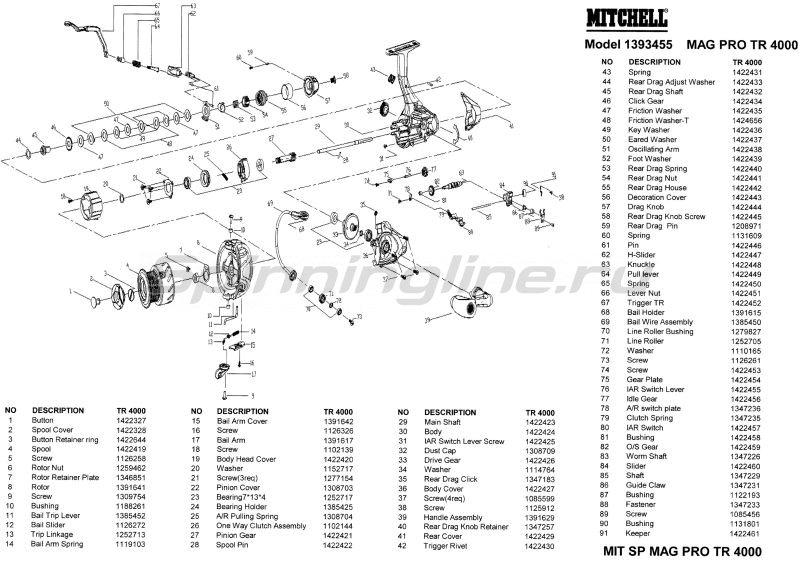 Катушка Mitchell Mag Pro TR 4000 -  9
