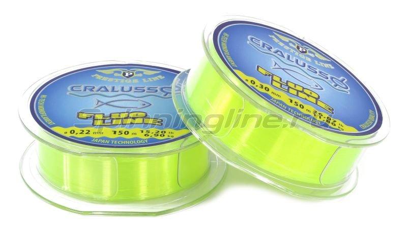 Леска Cralusso Fluo-yellow Prestige 150м 0,25мм -  2