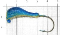 Мормышка судаковая Банан Светлячок 14гр 06 синий