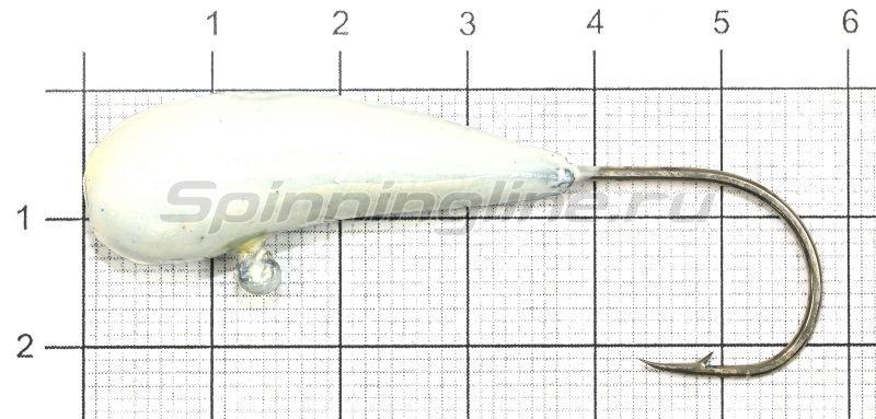 Мормышка Fish Gold судаковая Уралка Светлячок 22гр 02 белый -  1