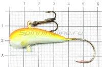 Мормышка Fish Gold судаковая Уралка Светлячок с тройником 22гр 13 флюо желто-красный
