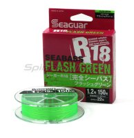 Шнур Seaguar R18 Sea Bass PE 150 Flash Green 0.6