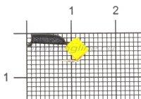 Мормышка Гвоздекубик d1.5 сырный кубик кр.kumho