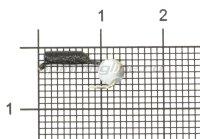 Мормышка Гвоздешарик d1.5 многогранный белый кр.kumho