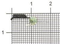 Мормышка Гвоздешарик d1.5 многогранный зеленый кр.kumho