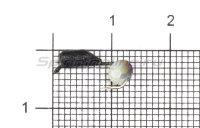 Мормышка Гвоздешарик d2.5 многогранный белый кр.kumho