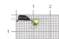 Мормышка Гвоздешарик d2.5 многогранный зеленый кр.kumho