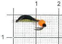Мормышка Овсинка-коза №3 флуоресцентный шар, латунь