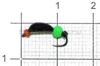 Мормышка Санхар Нимфа широкая №2 флуоресцентный шар, латунь
