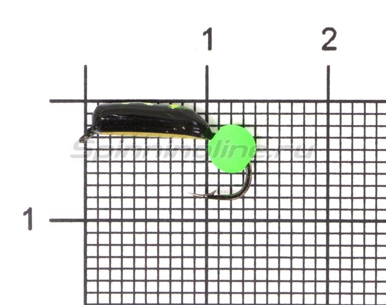 Мормышка Санхар Столбик №5 d2 флуоресцентный шар зеленый, латунь -  1