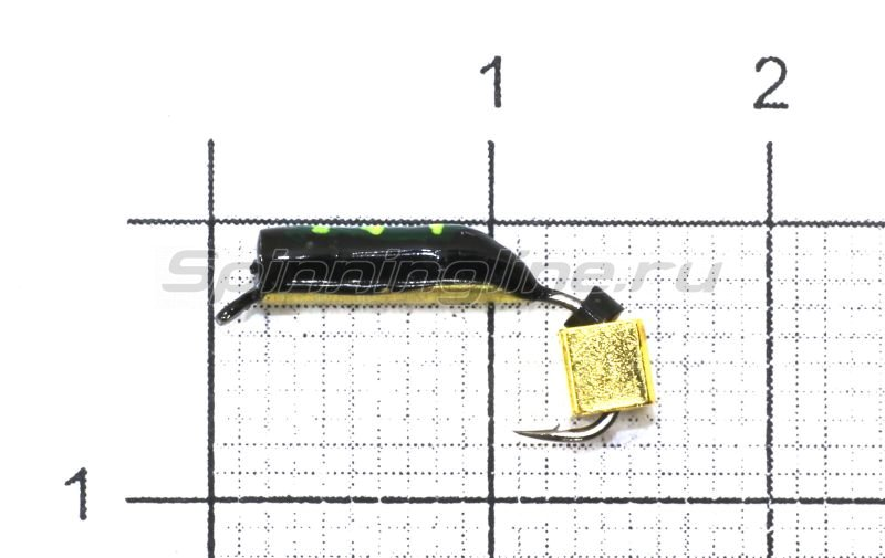 Мормышка Санхар Столбик №5 d2 золотой кубик, латунь -  1