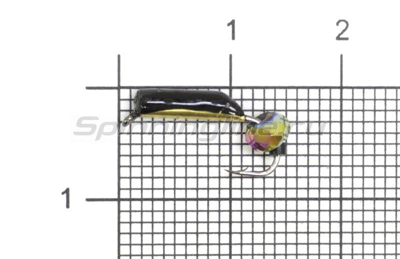 Мормышка Санхар Столбик №5 d2 кристалл хамелеон, латунь -  1