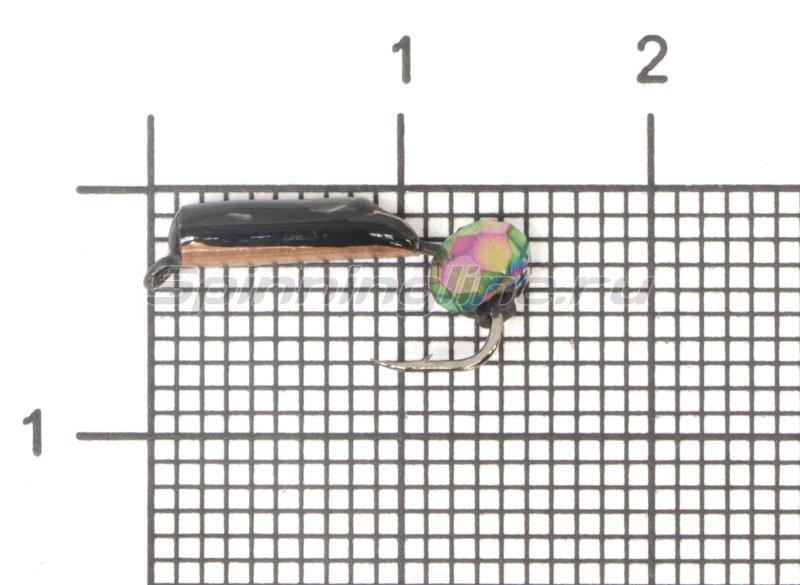 Мормышка Санхар Столбик №5 d2 кристалл хамелеон, медь -  1