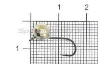 Мормышка LumiCom Шар фигурный с ушком d6 никель