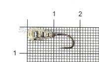 Мормышка LumiCom Личинка граненая с отверстием d5 никель