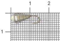 Мормышка LumiCom Личинка граненая с отверстием d5 черный никель с фосфорной каплей