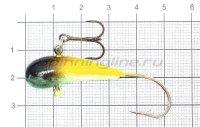 Мормышка Fish Gold судаковая Уралка Светлячок с тройником 16гр 03 желто-черный
