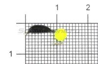 Мормышка True Weight Банан d2.5 ядреный глаз желтый неон
