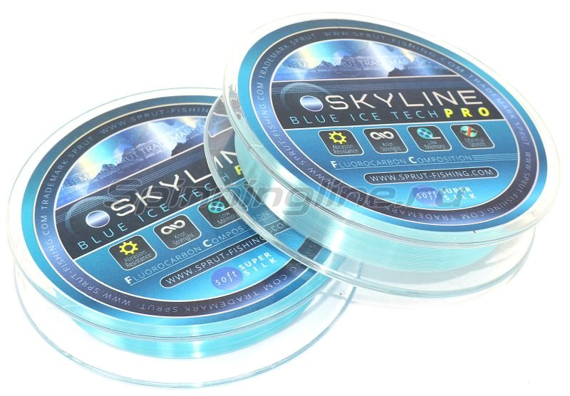Леска Sprut SkyLine Fluorocarbon Composition IceTech Pro 50м 0,105мм Blue -  2