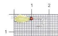 Мормышка светящаяся Shape Овсинка №12 с бисером
