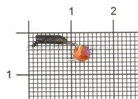 Мормышка True Weight Гвоздешарик d1.5 многогранный оранжевый кр.hayabusa