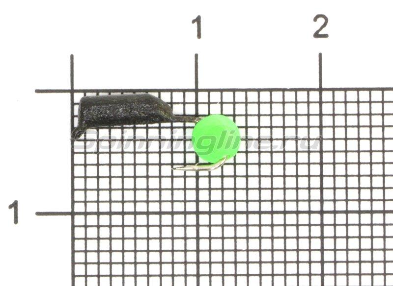 Мормышка True Weight Гвоздешарик d2 ядреный глаз зеленый кр.hayabusa -  1
