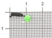 Мормышка Гвоздешарик d1.5 ядреный глаз зеленый кр.kumho