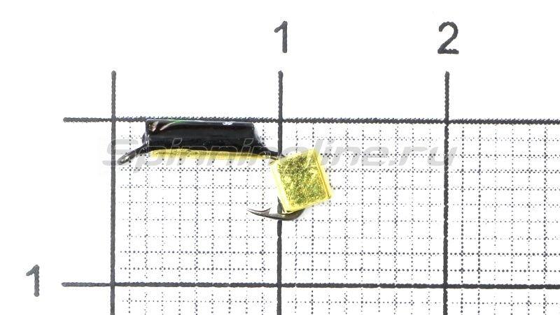 Мормышка Санхар Столбик №1 d1.5 золотой кубик, латунь -  1