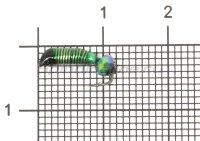 Мормышка Ручейник №2 d1.5 кристалл хамелеон, зеленый