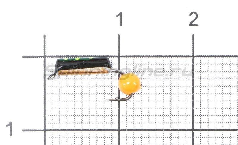 Мормышка Санхар Столбик №1 d1.5 флуоресцентный шар оранжевый, медь -  1