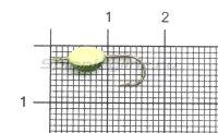 Мормышка светящаяся Shape Чечевичка №10 green flex