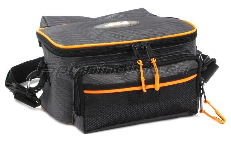Сумка Следопыт Sling Lure Bag M с 3 коробками серая -  1