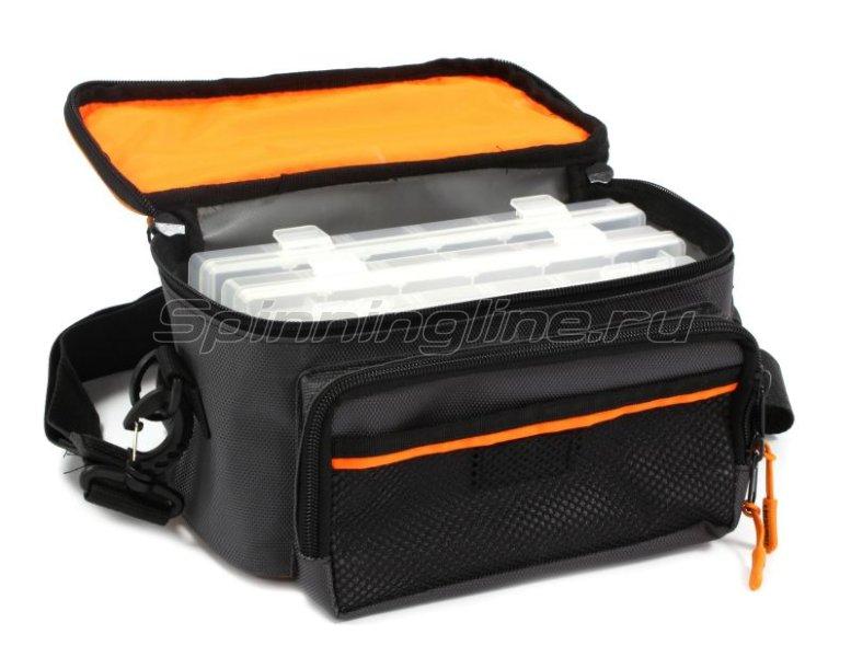 Сумка Следопыт Sling Lure Bag M с 3 коробками серая -  8