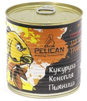 Запаренные злаки Pelican Кукуруза-Конопля-Пшеница 430мл