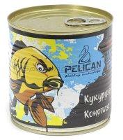 Запаренные злаки Pelican Кукуруза-Конопля, аромат чеснок 430мл