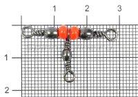 Вертлюг Barrel Triple Swivels BK №8x10