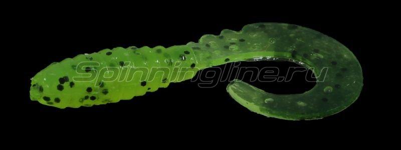 "Приманка FishUp Fancy Grub 1"" Chartreuse-Black -  1"
