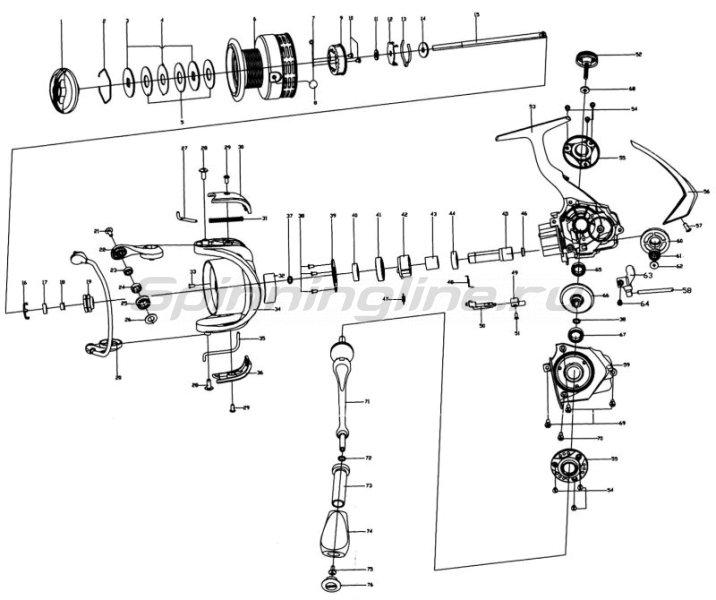 Катушка Stinger Priority NS 3510 -  7