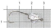 Крючок с огрузкой Crowned Mini №4 2,2гр